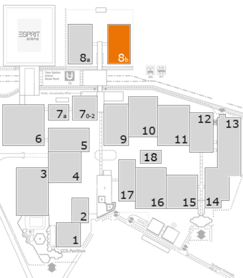 interpack 2017 fairground map: Hall 8b