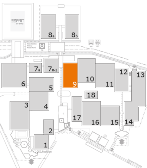 interpack 2017 fairground map: Hall 9