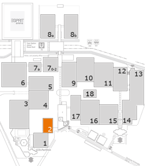 interpack 2017 fairground map: Hall 2