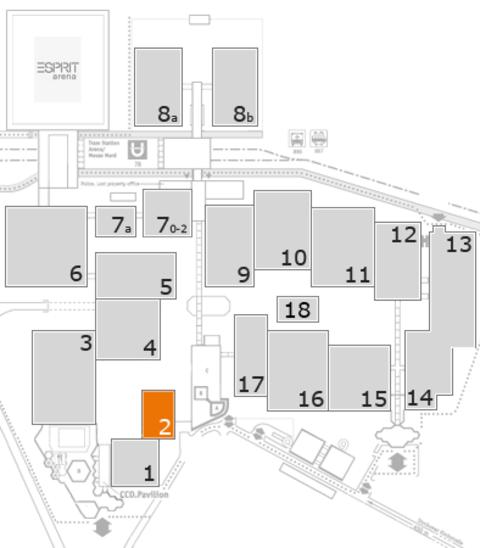 interpack 2017 Geländeplan: Halle 2