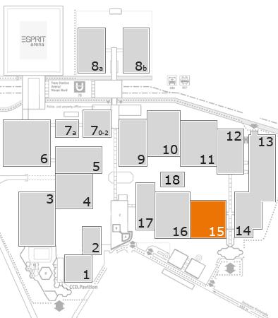 interpack 2017 Geländeplan: Halle 15