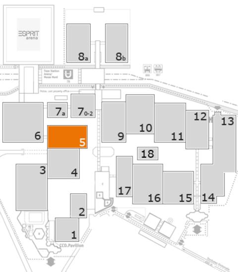 interpack 2017 Geländeplan: Halle 5
