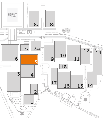 interpack 2017 fairground map: Hall 5