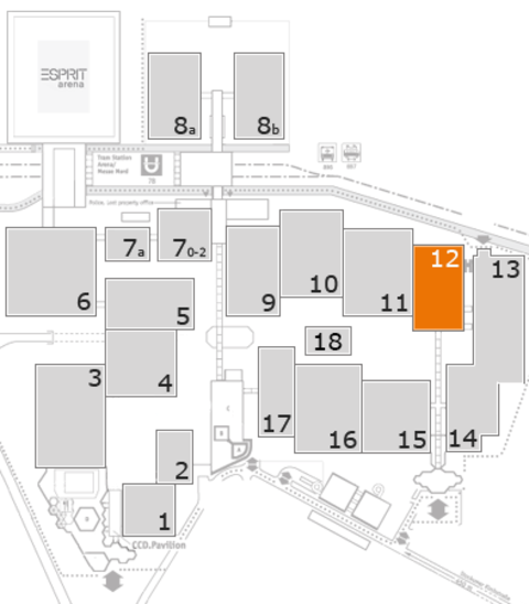 interpack 2017 fairground map: Hall 12