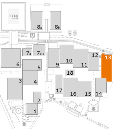 interpack 2017 fairground map: Hall 13
