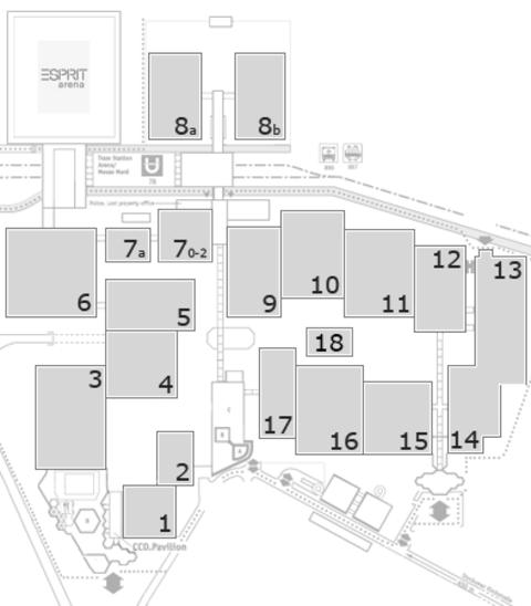 interpack 2017 Geländeplan: Eingang Nord