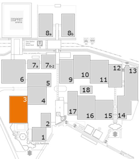 interpack 2017 Geländeplan: Halle 3