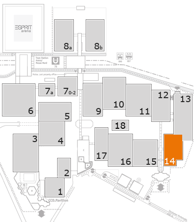 interpack 2017 fairground map: Hall 14