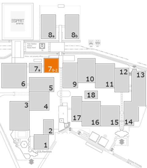 interpack 2017 fairground map: Hall 7, level 1