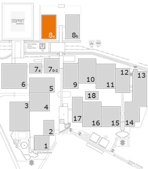interpack 2017 Geländeplan: Halle 8a