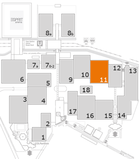 interpack 2017 fairground map: Hall 11