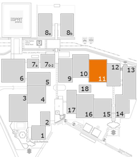 interpack 2017 Geländeplan: Halle 11