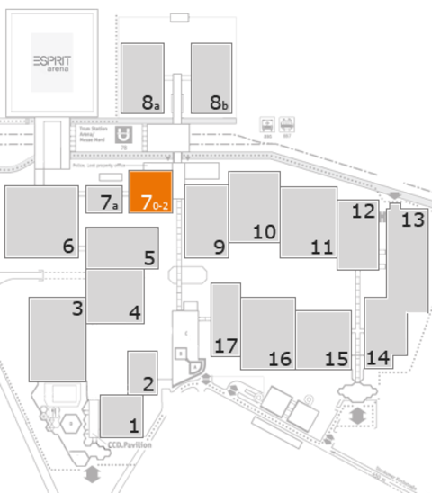 interpack 2017 fairground map: Hall 7, level 2