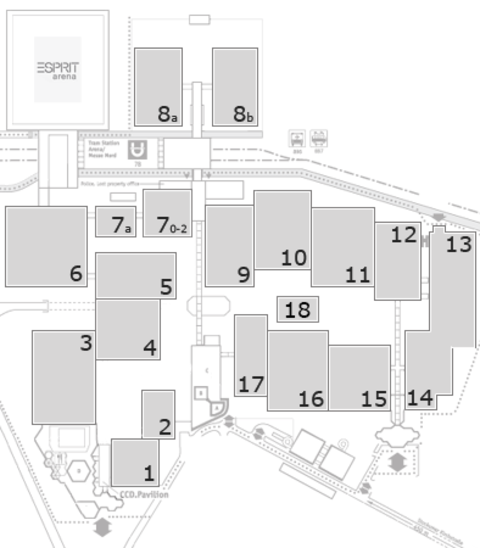 interpack 2017 fairground map: North Entrance 1