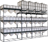 Container-combination in costumized steelframe