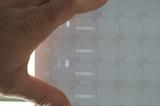 Laser Beschriftung - Beispiel für Sicherheitspapier, Seriennummern