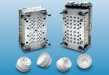 32-fach Heißkanalwerkzeug für 29 mm Speiseölverschluss-Unterteil. Material: LDPE.