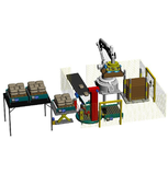 Robot palletizer equipped with vacuum gripper