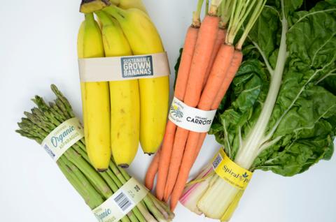 banded vegetables