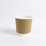 Kraft double wall paper cup with lid for European American Market