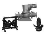 Filterpressenbeschickungspumpen, Abwasser-, Schlamm- und Baupumpen Abwasser-Tauchpumpen