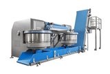 MDW 600 with conveyor belts, portioning hopper and scraps management system
