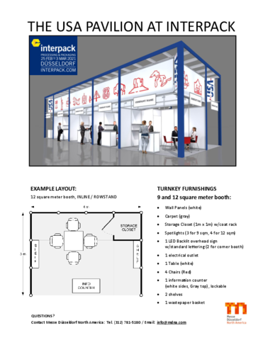 The USA Pavilion at interpack 2021
