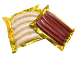 Heat Seal Plastic Food Packing Bag Gold Color Vacuum Pouch