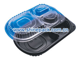 BLACK PP CONTAINER WITH PP LID(3 SEC.)