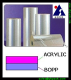 Acrylic coated BOPP film