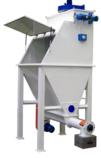 Discharge bags machine
