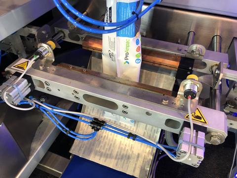Seal inspection sensors on VFFS machine