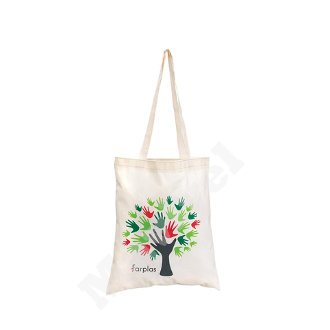 nature friendly colored cotton canvas bag