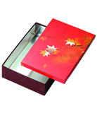 Japanese style cooking box long D4-2 sweetgum