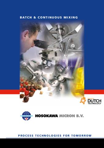 Mixing technologies by Hosokawa Micron BV