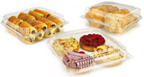 PLA-Premium bioplastic is the perfect substitute for traditional plastic for rigid bakery and pastry packaging